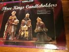 Kirkland Three Kings Christmas Nativity Votive Candle Holders Old New Stock