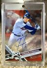 2017 Topps Clearly Authentic Freddie Freeman Red Auto 20 50 Atlanta Braves