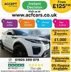 2016 WHITE RANGE ROVER EVOQUE 20 TD4 180 HSE DYNAMIC CAR FINANCE FR 125 PW