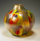 Contemporary art glass vase 5855 by Tom Michael USA