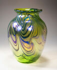 Contemporary art glass vase 5741 by Tom Michael USA