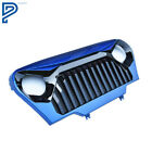 For Jeep Wrangler TJ 97 06 Front Blue Gloss Black Mean Angry Bird Grille Grill