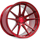 4ea 20x10 20x11 Staggered Rohana Wheels RFX2 Gloss Red Rims S7