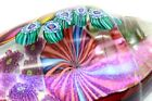 Dazzling IRIDESCENT James NOWAK Sea SHELL Art Glass PAPERWEIGHT Sculpture