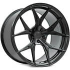 4ea 19x95 19x11 Staggered Rohana Wheels RFX5 Matte Black Rims S7