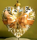 Hallmark 2019 Heritage Blown Glass Heart of Love Gold Box NIB Xmas Ornament