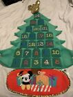 Disney Store Mickey and Friends Plush Advent Calendar Wall Hanging New with Box