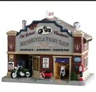 LEMAX CHRISTMAS VILLAGE MOTORCYCLE SHOP HOUSE  BUILDING