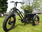 Fat tire electric tricycle trike moped scooter with big tires