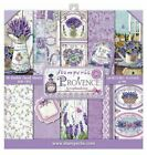 Stamperia Double Sided Paper Pad 8 x 8 Provence Lavender Flowers