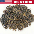 Vintage 50g pack Steampunk Mixed Jewelry Making Mixed Charms Pendant DIY Crafts