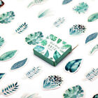 45pc Leaf Plants Paper Stickers Journal Planner Diary Scrapbook Decals Decor DIY