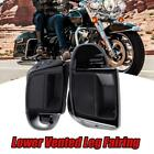 Black Lower Vented Leg Fairing Fit For Harley Electra Glide Ultra Classic FLHTCU