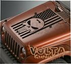 Vinyl Hood Decal Compatible with Jeep Wrangler American Flag The Punisher