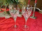 Noritake Moondust Two Wine Glasses Lovely Pattern