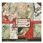 Stamperia Double Sided Paper Pad 8 x 8 Oriental Garden Flowers
