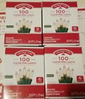 4 Holiday Time 100 Clear Mini Lights Green Wire Indoor Outdoor Christmas Wedding