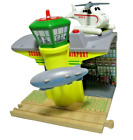Sodor Airship Hangar Harold Helicopter Thomas Train Wooden Railway Track Working
