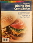 Weight Watchers Dining Out Companion Book Turn Around Points 10000 menu A56