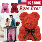 Love Rose Flowers Bear With Box Wife Girlfriend Valentine Birthday Wedding Gift