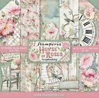 Stamperia Double Sided Paper Pad 8x8 House of Roses Vintage Flowers