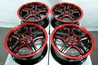 15 Red Wheels Fits Subaru Impreza Wrx Forester Legacy Prius Matrix Civic Rims