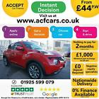 2016 RED NISSAN JUKE 16 TEKNA X TRONIC PETROL AUTO HATCH CAR FINANCE FR 44 PW