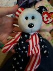 RETIRED 1999 Spangle Beanie Baby - Blue Face