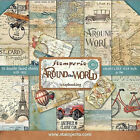 Stamperia Double Sided Paper Pad 8 x 8 Around the World Vintage Designs