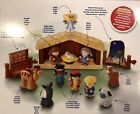 Fisher Price Little People Christmas Nativity Manger Set Baby Jesus Mary