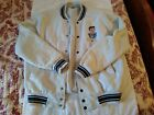 Too Cute Betty Boop blue  witsh gray baseball style jacket size XL