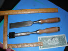 VINTAGE WOOD CHISEL GOUGE HAND CARVING Wood WORKING TOOLS Palmera lot of 2