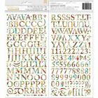 BoBunny Time  Place Collection Thickers Chipboard Alphabet  Numbers