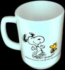 Fire King Milk Glass Snoopy Woodstock At Times Life Is Pure Joy Mug 1965