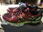 Asics Mens Gel Sendai 2 Running Shoes Mens 10 Red Black flash Green T4A1N 2390