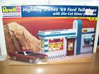 Revell Monogram 1/24 Highway Scenes 1969 Ford Talladega w/ Diner Diorama #7803