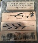 Stampin Up The Art of Life Rubber Wood Stamp Set RETIRED