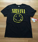 Mens Nirvana Smiley Face Logo Live Nation NEW W TAGS T shirt LARGE black Yellow