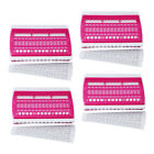 4 Pieces Yarn Floss Organizer Dedicated Tool Sewing Needle Holder (Rose Red)