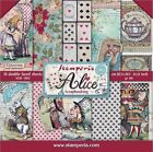 Stamperia Double Sided Paper Pad 8x8 Alice