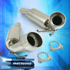 For 10 15 Chevrolet Camaro SS Stainless Steel Axle Back Exhaust System + Clamps