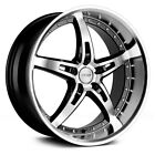 MRR GT5 Wheels 19x85 35 5x1143 731 Black Rims Set of 4