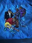 Vintage Mens Camel Cigarette Blue Jean Button Down Shirt Joe Camel Jazz Size XL