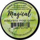 Lindys Stamp Gang Magicals Pigment Powder Edelweiss Moss Green