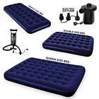 Bestway Single Double Inflatable Flocked Air Bed Mattress Electric Pump Pillow