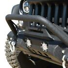 DV8 Offroad Jeep JK Front Bumper w LED Lights 07 18 Wrangler JK Steel Mid Length