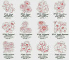 REDWORK FLOWERS 1 Embroidery Card for Artista 165 170 185 700 Deco 330 340