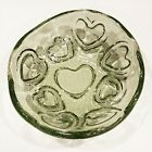 Heart Puka Bowl  Olive  New  Fire and Light Recycled Art Glass Valentine
