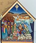 Vintage 2009 Heartwood Creek Jim Shore Nativity Plaque Wall Decor Enesco 4015692