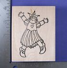 RUBBER STAMP PRINCESS GIRL DANCING